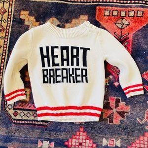 BABY GAP heart breaker sweater 6-12m knit